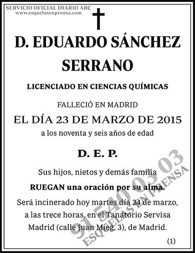 Eduardo Sánchez Serrano